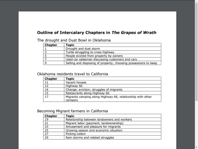 literary devices in grapes of wrath