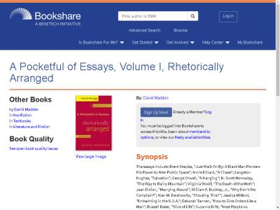 a pocketful of essays