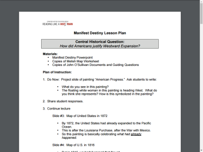 illinois open educational resource detail rh ioer ilsharedlearning org manifest destiny guided reading answers chapter 9 guided reading manifest destiny answers lesson 2