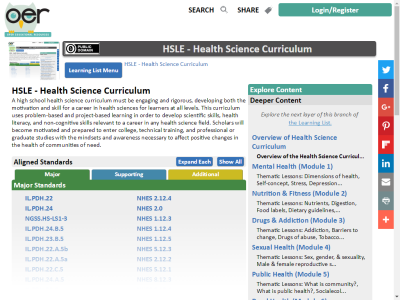 Thumbnail for HSLE - Health Science Curriculum resource