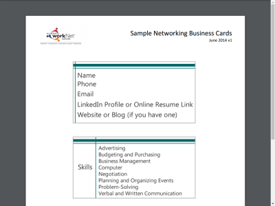 Top ten tips for networking virtually collection connect sample networking business cards reheart Choice Image