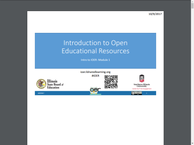 Thumbnail for Introduction to Open Educational Resources resource