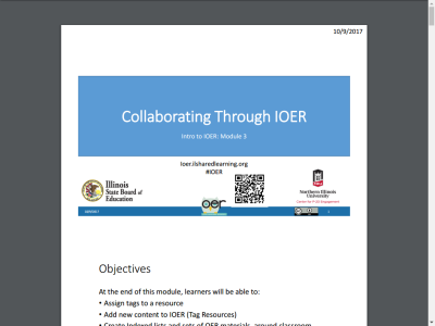 Thumbnail for Collaborating Through IOER resource